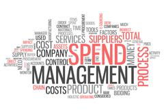 word cloud spend management - stock illustration