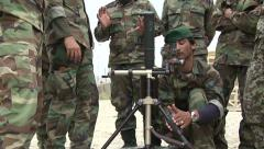US Army Afghanistan Mortar Training - stock footage