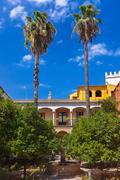 Stock Photo of Real Alcazar Gardens in Seville Spain