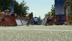 AMGEN TOUR OF CALIFORNIA CYCLING RACE STAGE 2 FOLSOM MAY12, 2014 Stock Footage