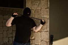 Murderer waiting  his victim with loop Stock Photos