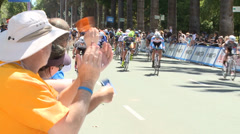 AMGEN TOUR OF CALIFORNIA  PROFESSIONAL CYCLING RACE STAGE 1 Stock Footage