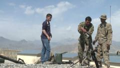 Army Afghanistan Mortar Firing - stock footage