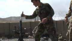 US Army Afghanistan Mortar Firing Arkistovideo