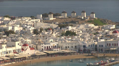 Chora Mykonos Island in Greece Stock Footage