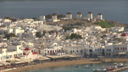 Stock Video Footage of Chora Mykonos Island in Greece