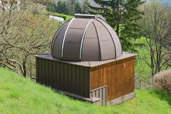 vineyard observatory styria, austria - stock photo