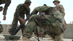 Army Afghanistan Mortar Build Up Stock Footage