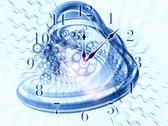 Surreal clock concept Stock Illustration