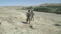Army Afghanistan Soldiers Scouting Stock Footage