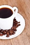 Cup full of coffee Stock Photos