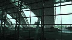 Chengdu Shuangliu Airport Sichuan China 4 handheld Stock Footage