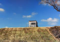 Shack at the Top of the Hill - stock photo