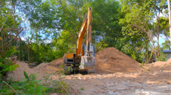 Excavator Working Stock Footage