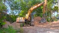 Excavator Working Stock Footage