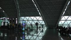 Chengdu Shuangliu Airport Sichuan China 9 handheld Stock Footage