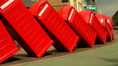 RED TELEPHONE BOX TIME LAPSE 3 - stock footage
