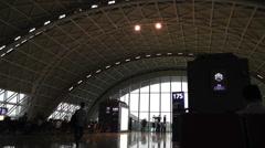 Chengdu Shuangliu Airport Sichuan China 10 handheld Stock Footage