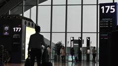 Chengdu Shuangliu Airport Sichuan China 11 handheld Stock Footage