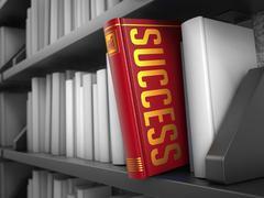 Success - Title of Book. Internet Concept. - stock illustration