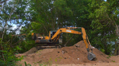 Excavator Working 2 Stock Footage