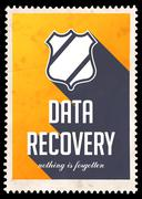 Data Recovery on Yellow in Flat Design. - stock illustration