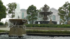 European Style Park Fountain in Sichuan China 4 - stock footage