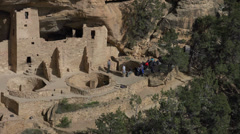 Mesa Verde Cliff Palace Indian Cliff Dwelling tour 4K 077 Stock Footage