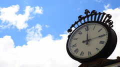 Clock timelapse - stock footage