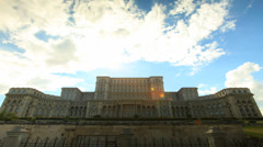 Romanian House of Parliament in Bucharest, Romania. Stock Footage