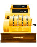 Antique cash register Stock Illustration
