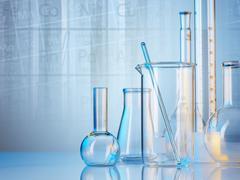 Laboratory glassware Stock Illustration