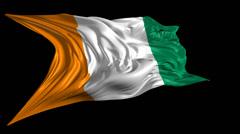Flag of Ivory Coast Stock Footage