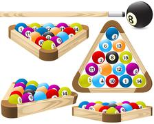 pool rack (billiards) - stock illustration
