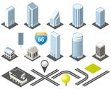 Stock Illustration of isometric map toolkit downtown