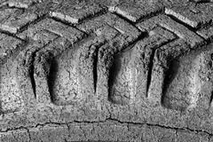 Badly Cracked Tire Tread Stock Photos