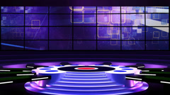 Entertainment TV Studio Set 01-Virtual Green Screen Background Loop Stock Footage