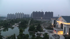 Jintang Town Chengdu Area Sichuan China 1 getting dark Stock Footage