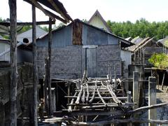 fisherman village - stock photo