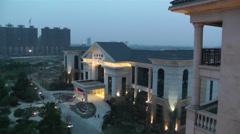 Jintang Town Chengdu Area Sichuan China 2 getting dark Stock Footage