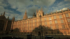 Westminster palace in London, house of parliament, England. Stock Footage