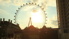 The London Eye also known as the Millennium Wheel - stock footage