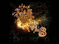 Advance of Numbers - stock illustration