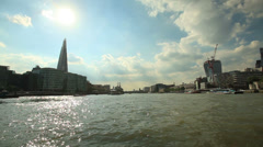 London river thames Stock Footage