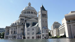 Christian Science Museum in Boston Stock Footage