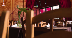 Inside of nicely decorated restaurant 4k Stock Footage