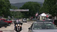 Motorcycles in downtown Sturgis South Dakota Stock Footage