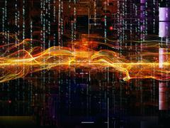 Advance of Digital Network Stock Illustration