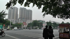Jintang Town Chengdu Area Sichuan China 22 street handheld Stock Footage