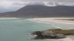 Luskentyre sands Isle of Harris Scotland Stock Footage
